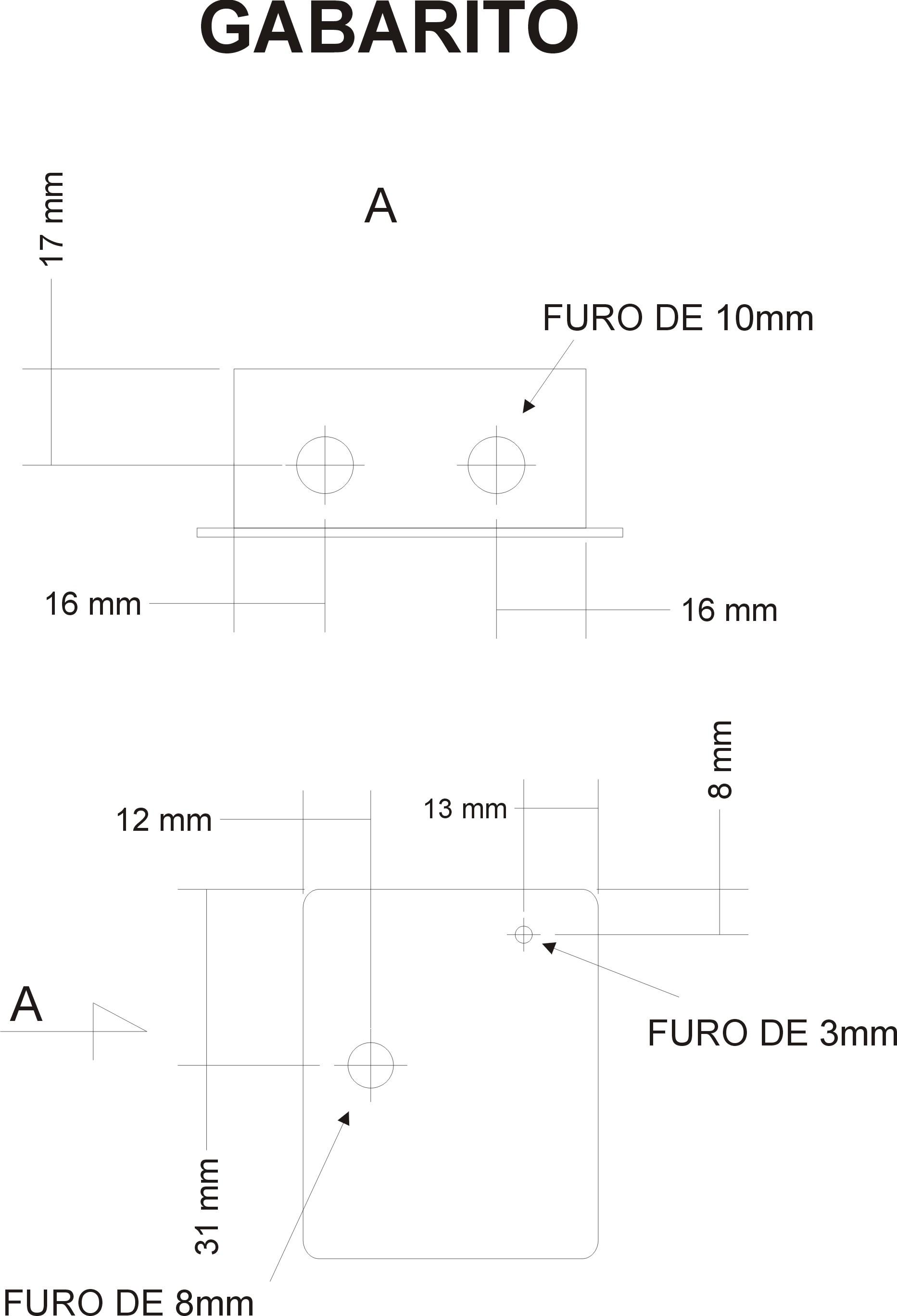 Gabarito de Furo Cable Tester