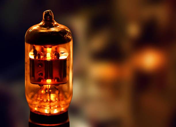 Glowing radio vacuum tube