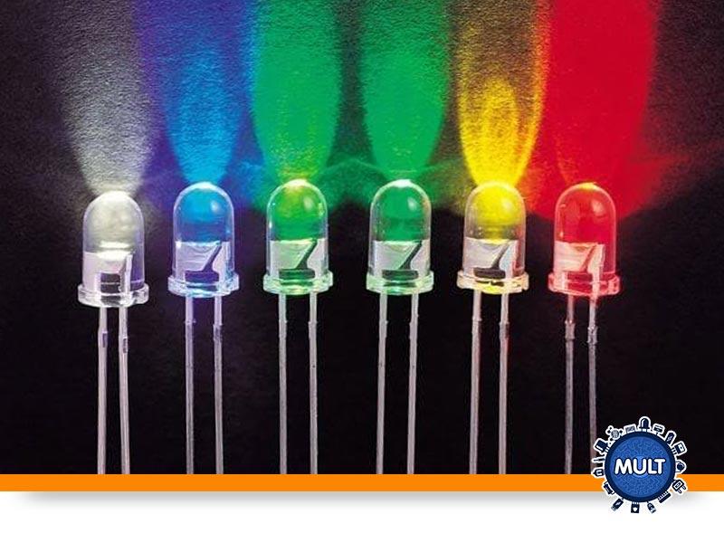 cores diferentes de LEDs