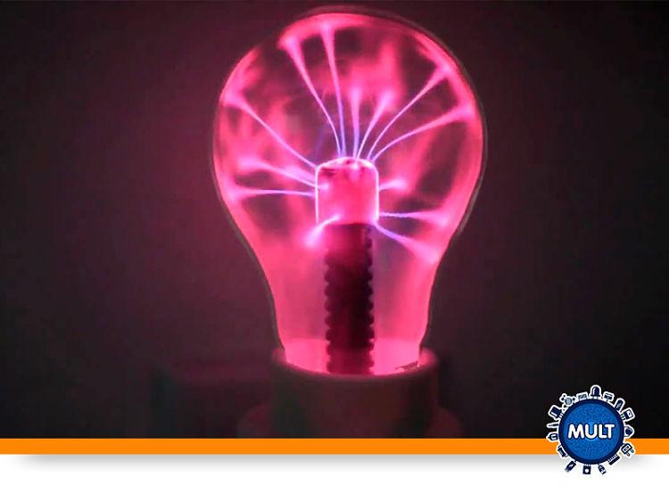 lâmpada de plasma rosa