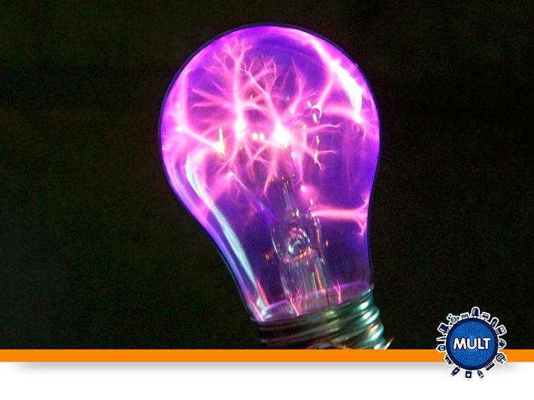 lâmpada de plasma roxa